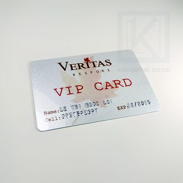 In thẻ nhựa, thẻ vip