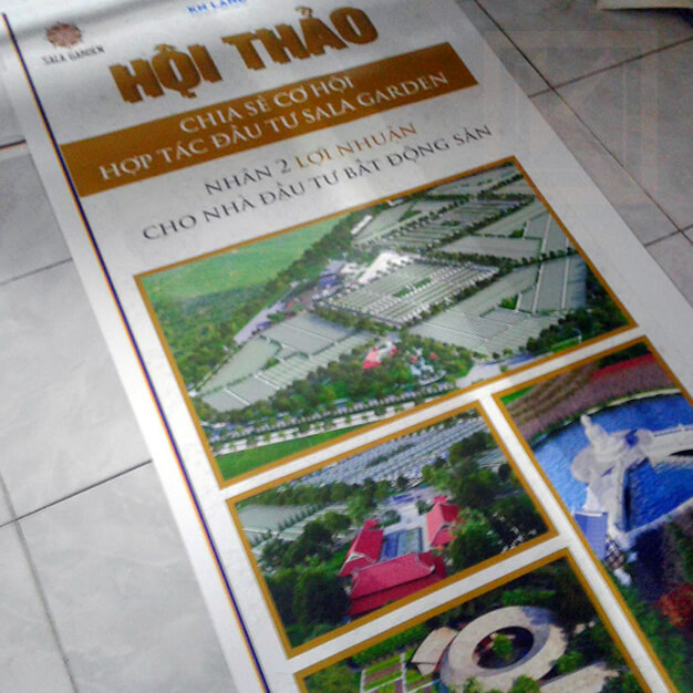in standee lấy ngay